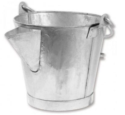 Galvanised V-Lipped Tar Bucket