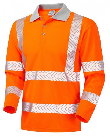 Hi-Vis Coolviz Plus Long Sleeved Polo Shirt