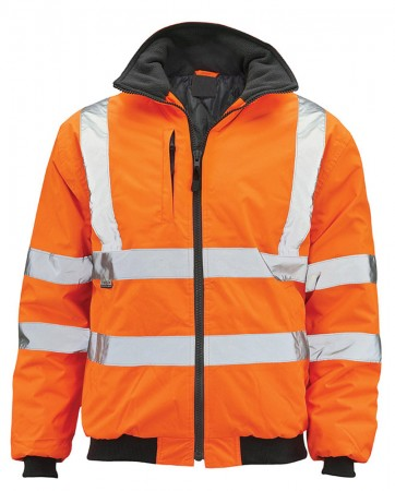 Classic Orange Hi-Vis Bomber Jacket
