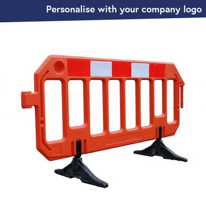 Constructor Blow Moulded Pedestrian Barrier with Anti-Trip feet
