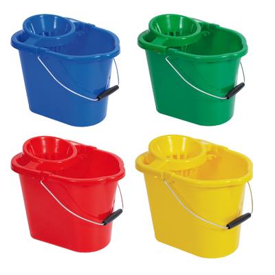 Colour Coded Plastic Mop Bucket