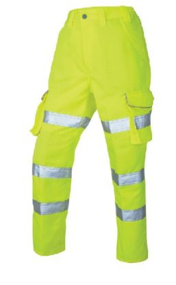 Class 2 Ladies Polycotton Hi-Vis Cargo Trousers