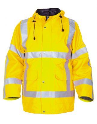 Hydrowear Uithoorn Hi-Vis Waterproof Breathable Storm Coat/ Parka Jacket with Interactive Zip