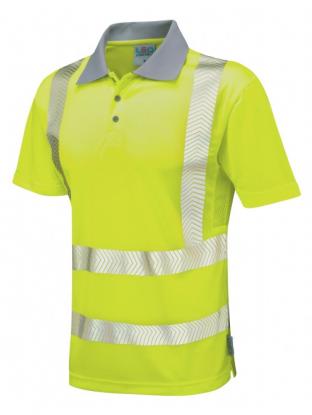 Hi-Vis Coolviz Plus Short Sleeved Polo Shirt