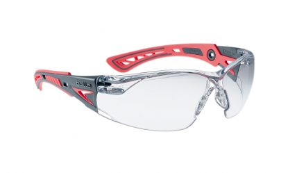 Bollé Rush Plus Small , Platinum Coated Safety Glasses with Anti-Scratch & Anti-Mist Lens