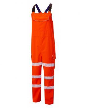 ISO 20471 Class 2 EcoViz Breathable Bib & Brace Orange